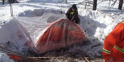 Building a Single Super Shelter in Winter